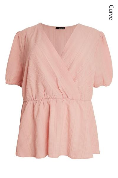 Curve Pink Wrap Top